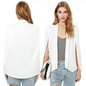 New white cape jacket